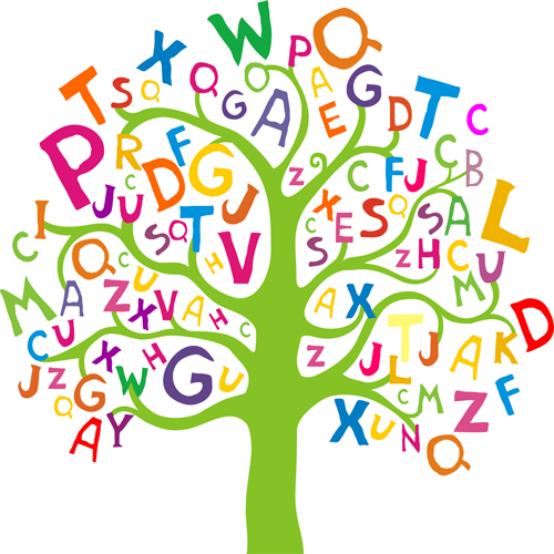 Letters tree for toddlers