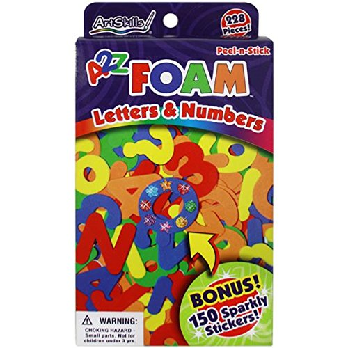 artskills-a2z-foam-letters-and-numbers-228-pieces-150-sparkly-stickers